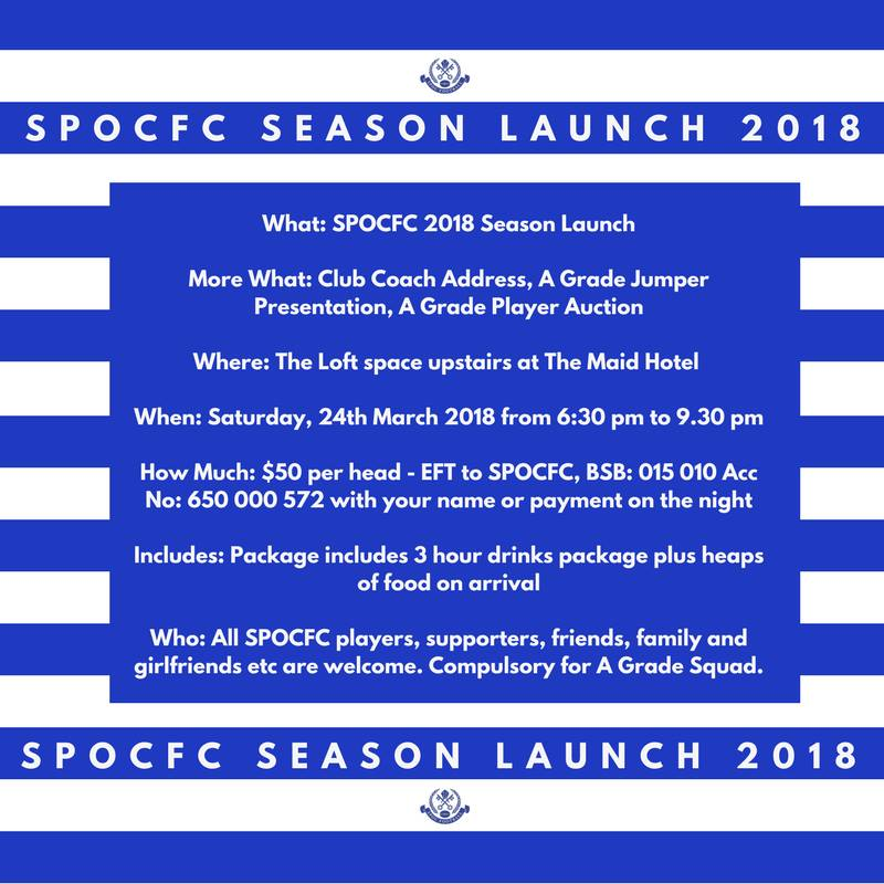 SPOC FC Season Launch