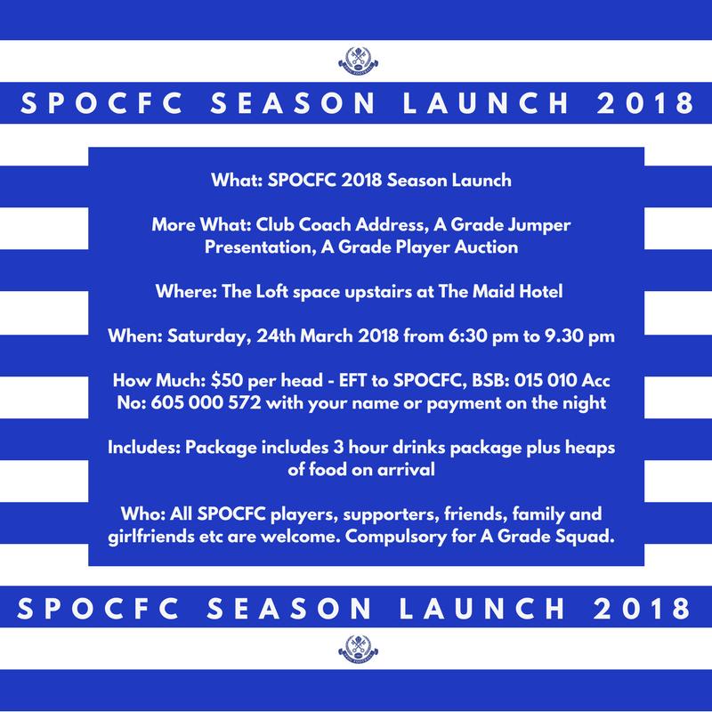 SPOC FC Season Launch